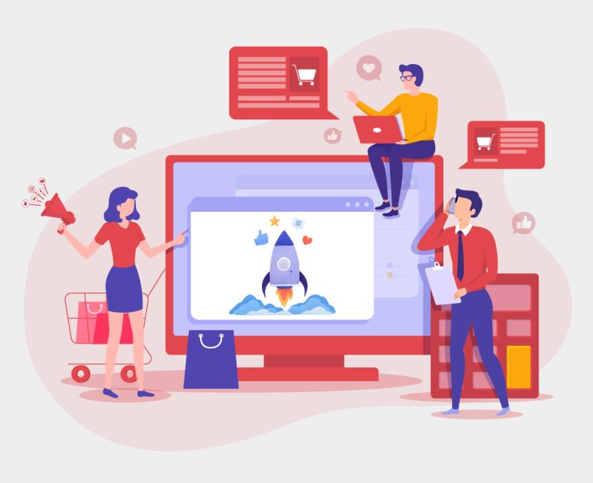 digital india clipart, Cartoons - Digital Marketing Services - Digital Marketing Illustration Hd