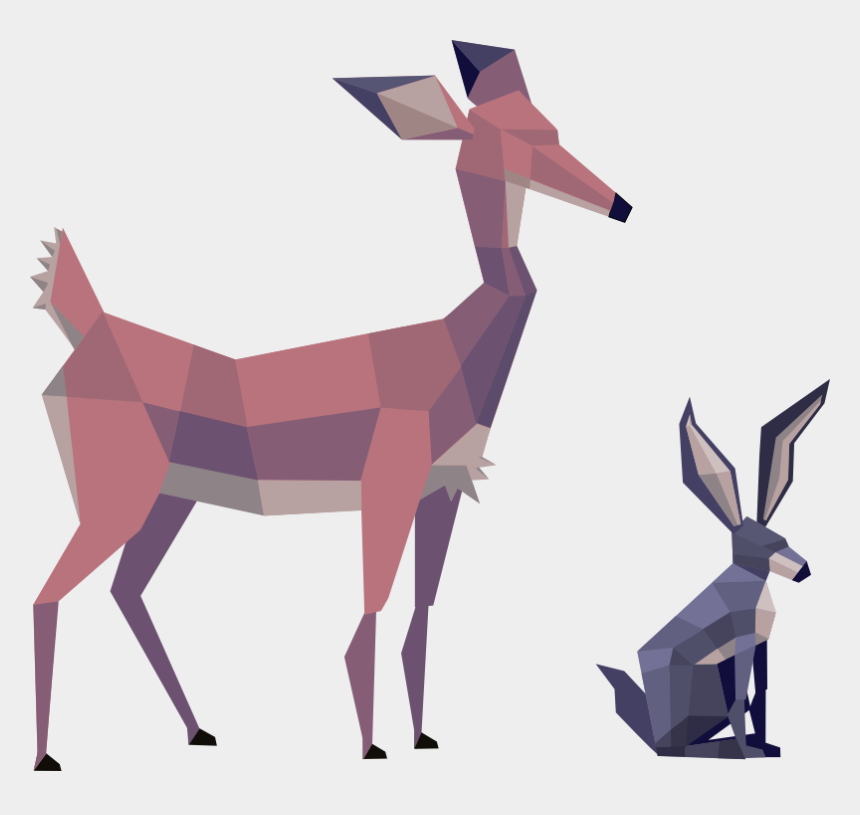 how to draw a gazelle clipart, Cartoons - Low Poly Art Concept