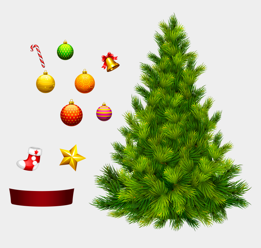 Christmas Decorating Clip Art.Christmas Tree Clipart Decorative Christmas Tree No