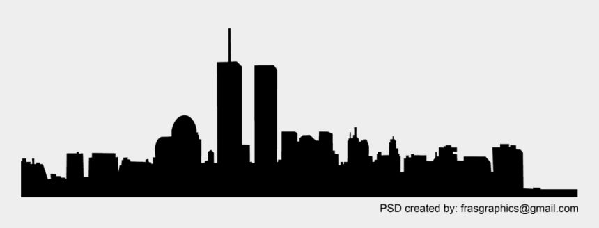 twin towers clipart, Cartoons - Skyline Vector Hi-res - New York Skyline Silhouette With Twin Towers
