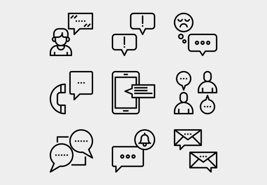 talk on the phone clipart, Cartoons - Message Bubbles - Ocean Plastic Icon Png