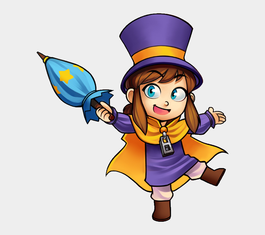 kids taking turns clipart, Cartoons - Hat Kid - Hat Girl Hat In Time