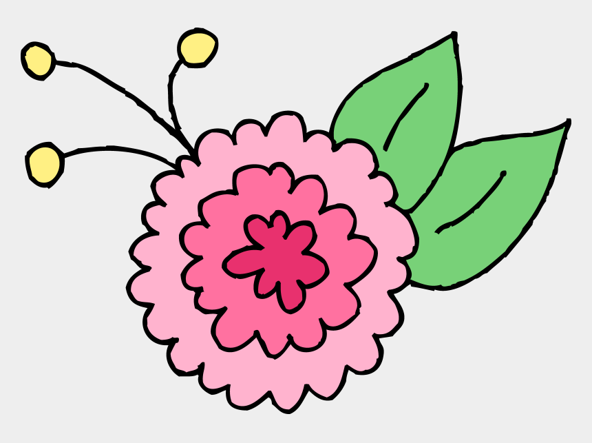 corner sun clipart, Cartoons - Cute Pink Chrysanthemum Flower - Clip Art Cute Flowers