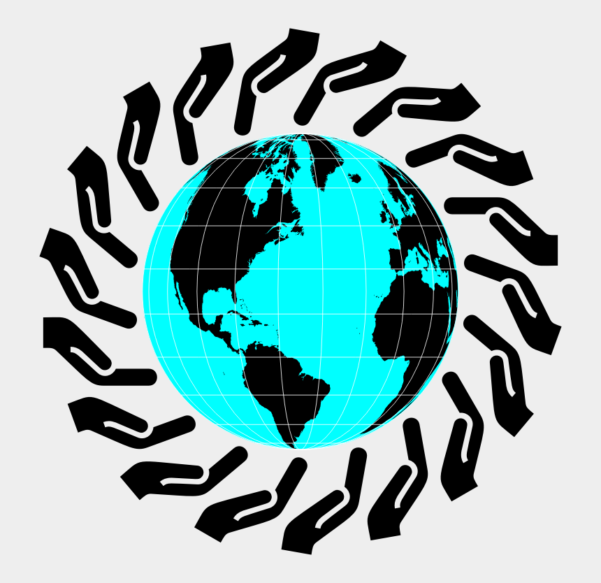 caring for others clipart, Cartoons - Cartoon Clip Caring - World Map Globe Png