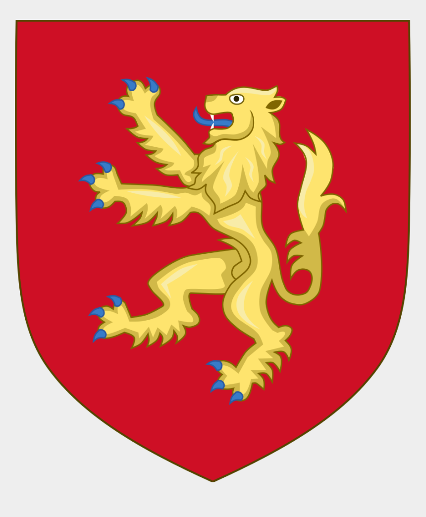 quartering act clipart, Cartoons - The Coat Of Arms Of The Scrymygeour Family - Plantagenet Lion