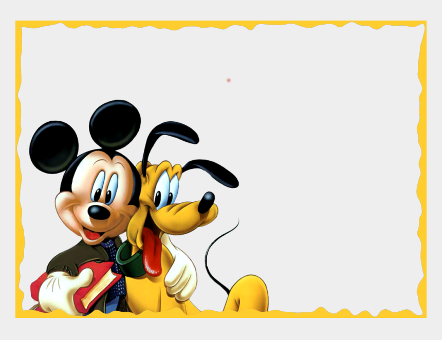 hitting clipart, Cartoons - Kids Clipart Design - Mickey Mouse Frame Png