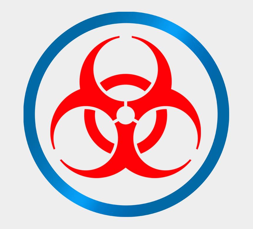 mold clipart, Cartoons - Mold Inspection & Remediation - Biohazard Symbol Blue