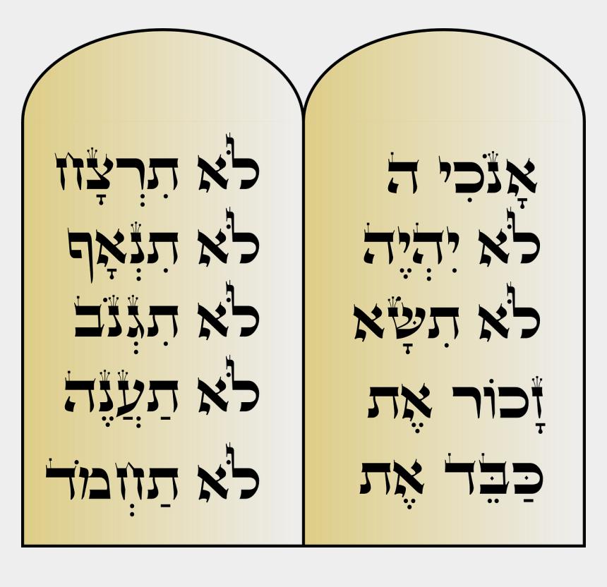 10 commandments clipart, Cartoons - Clipart - 10 Commandments - Ten Commandments In Hebrew