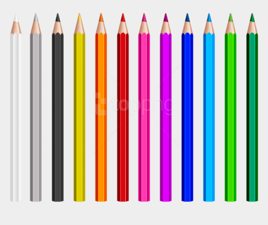 colors clipart, Cartoons - Download Colored Pencils Set Photo Toppng Free - Colored Pencil Clipart Png