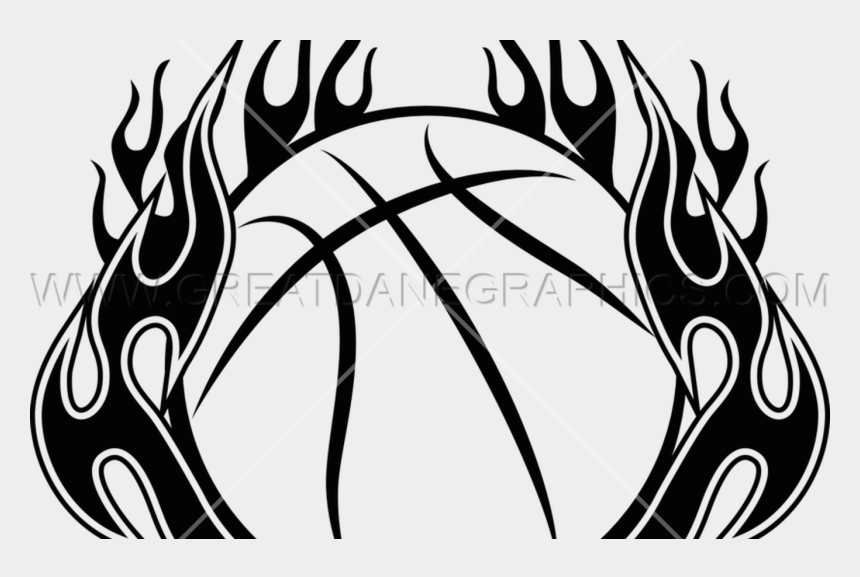 margarita clipart black and white, Cartoons - 19 Flames Clip Black And White Line Drawing Huge Freebie - Basketball On Fire Clipart
