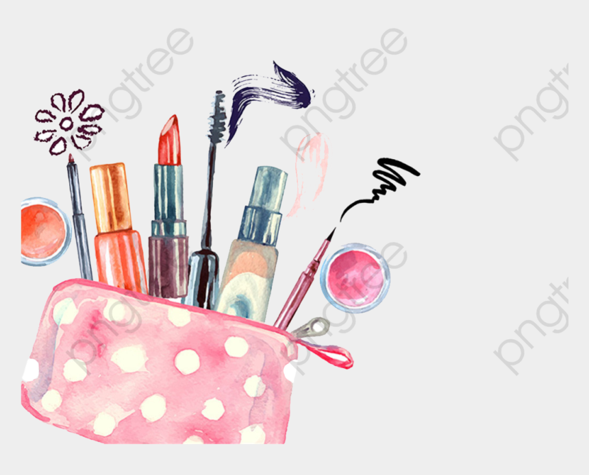 makeup clipart png, Cartoons - Drawing Watercolor Makeups - Make Up Bag Drawing