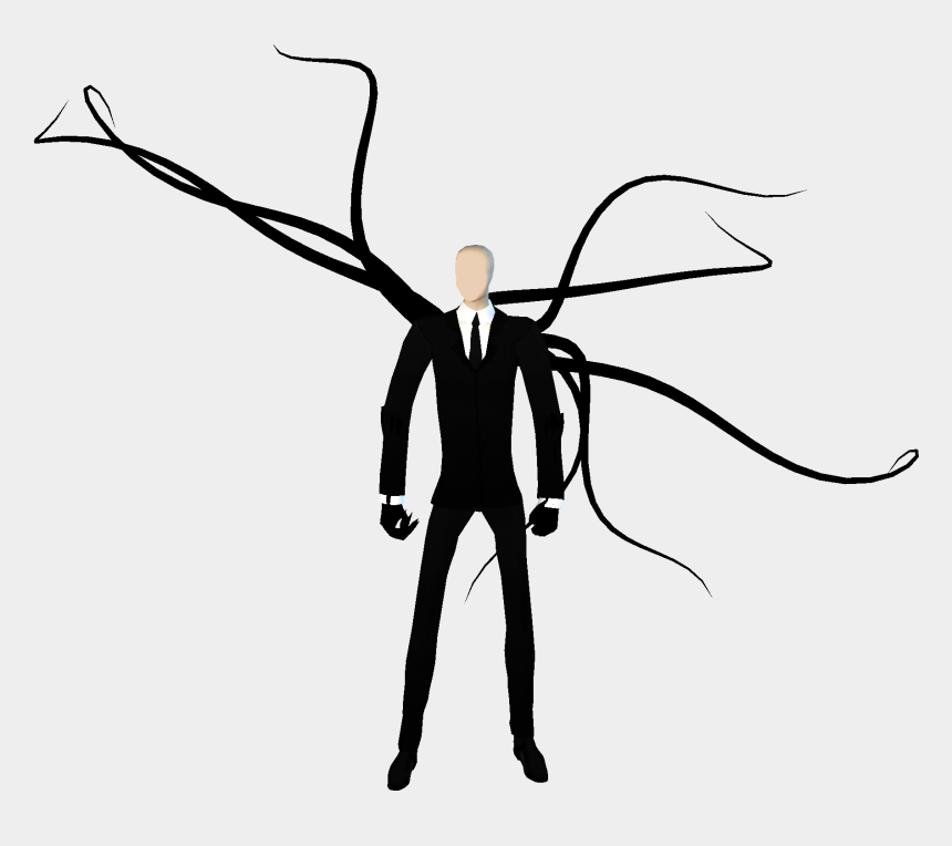 tentacle clipart, Cartoons - Clipart Info - Slender Man White Background