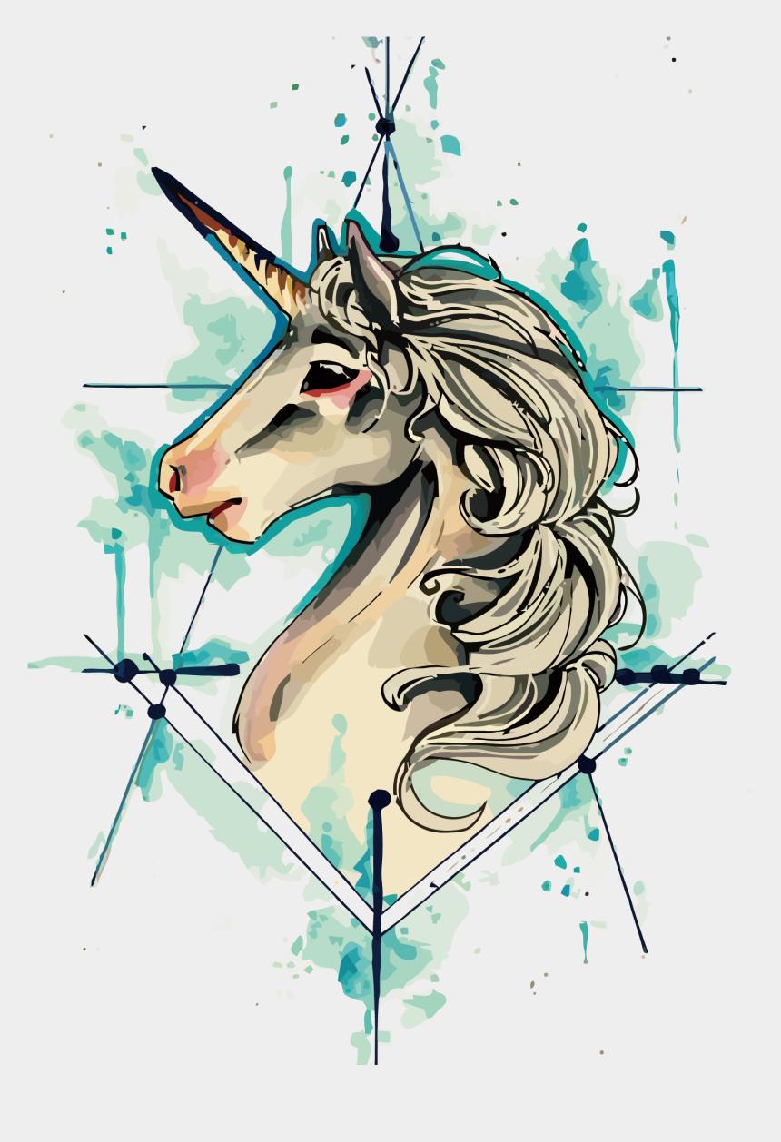 unicorn face clipart, Cartoons - Tattoo Flash Vector Iphone Unicorn Drawing Clipart - Unicorn Tattoo Drawing