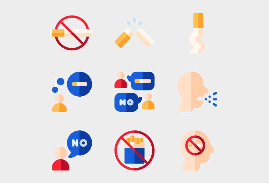 cigarette smoke clipart, Cartoons - Quit Smoking - Cigarette Icon Vector Png