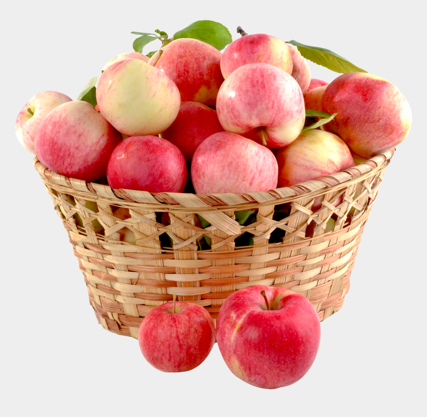 basket of apples clipart, Cartoons - Apple - Basket Full Of Apples