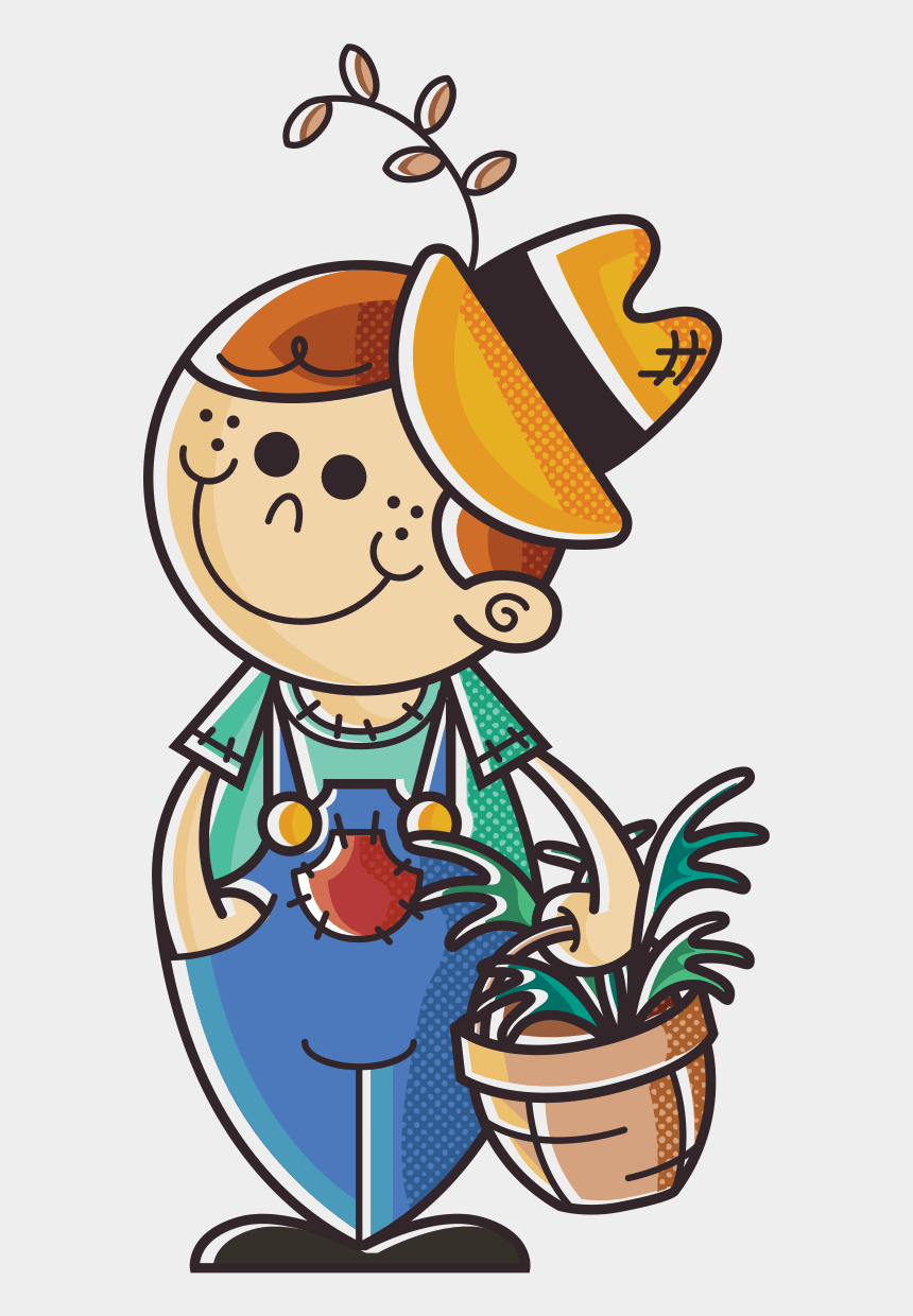 basket of apples clipart, Cartoons - Farmer Boy With Basket Of Sprouts