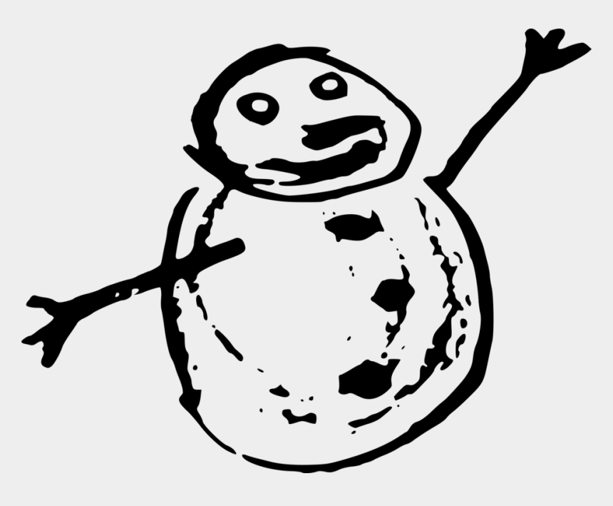 snowman face clipart black and white, Cartoons - Free Happy Snowman Doodle Free - Snowman Doodle Png