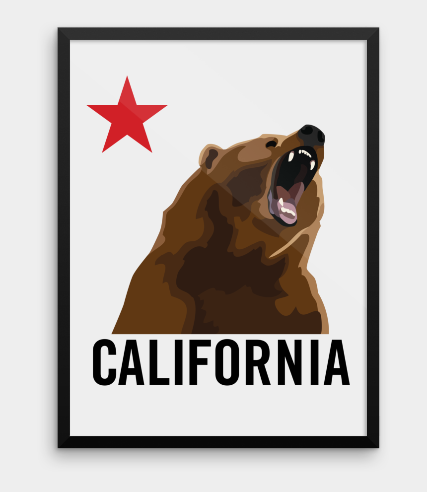 yawn clipart, Cartoons - Bear Outline Png - Does California's Flag Look Like