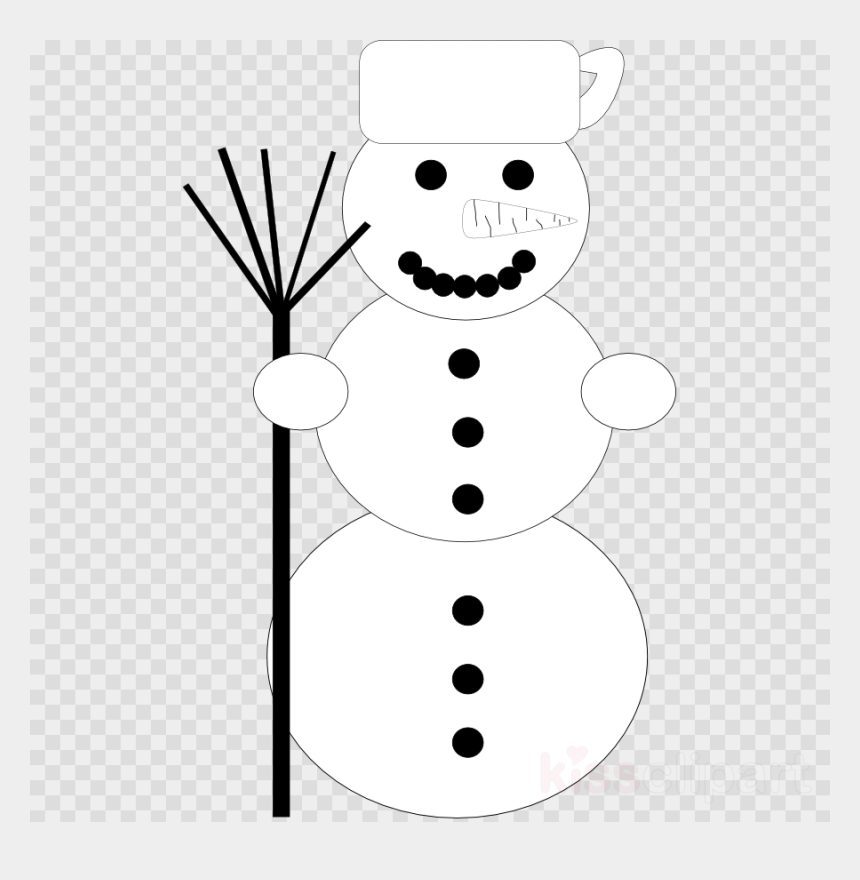 snowman face clipart black and white, Cartoons - Head Transparent Image Clipart Free Download Clip - Carolina Panthers Nfl Png