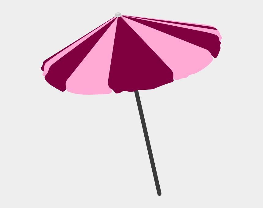 beach chair clipart black and white, Cartoons - Pink Beach Umbrella Clipart
