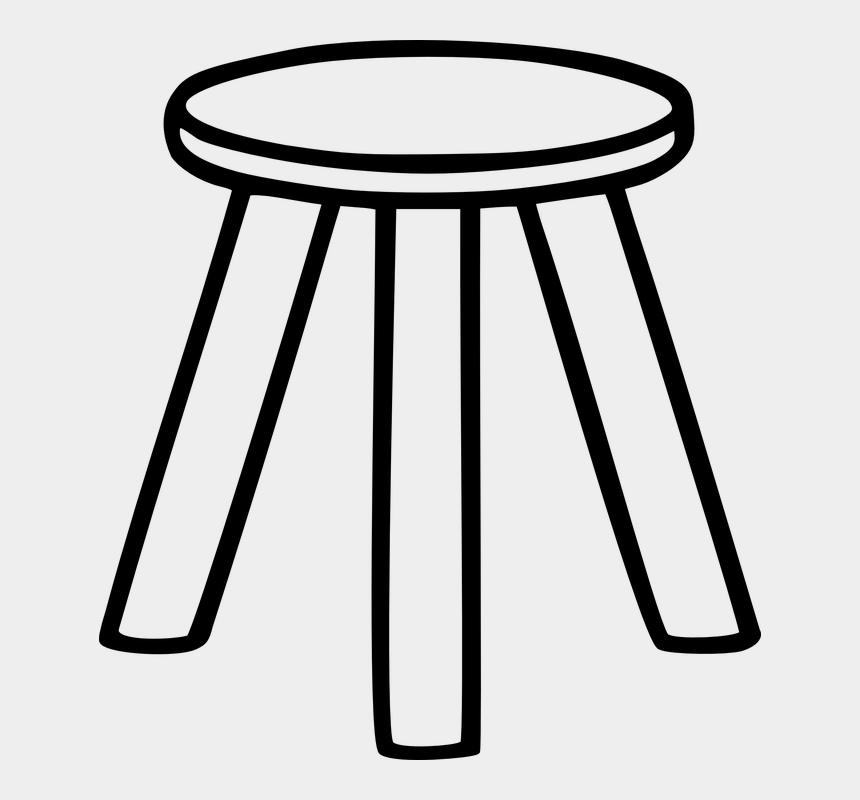 beach chair clipart black and white, Cartoons - Stool Chair Furniture Wood - Three Legged Stool Retirement