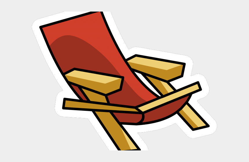 beach chair clipart black and white, Cartoons - Chair Clipart Beach Chair - Beach Chair Palm Png