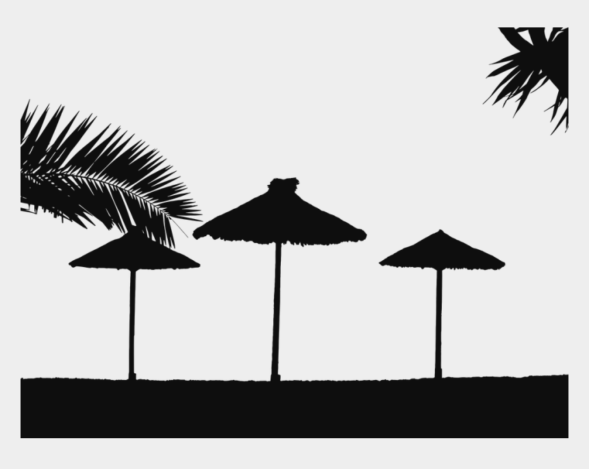 beach chair clipart black and white, Cartoons - The Beach Png Black And White Pluspng - Beach Silhouette Png