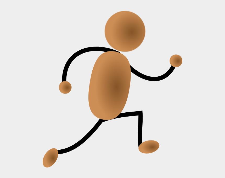 jog clipart, Cartoons - Bronze Jogging Man Clip Art - Running Man Gif Png