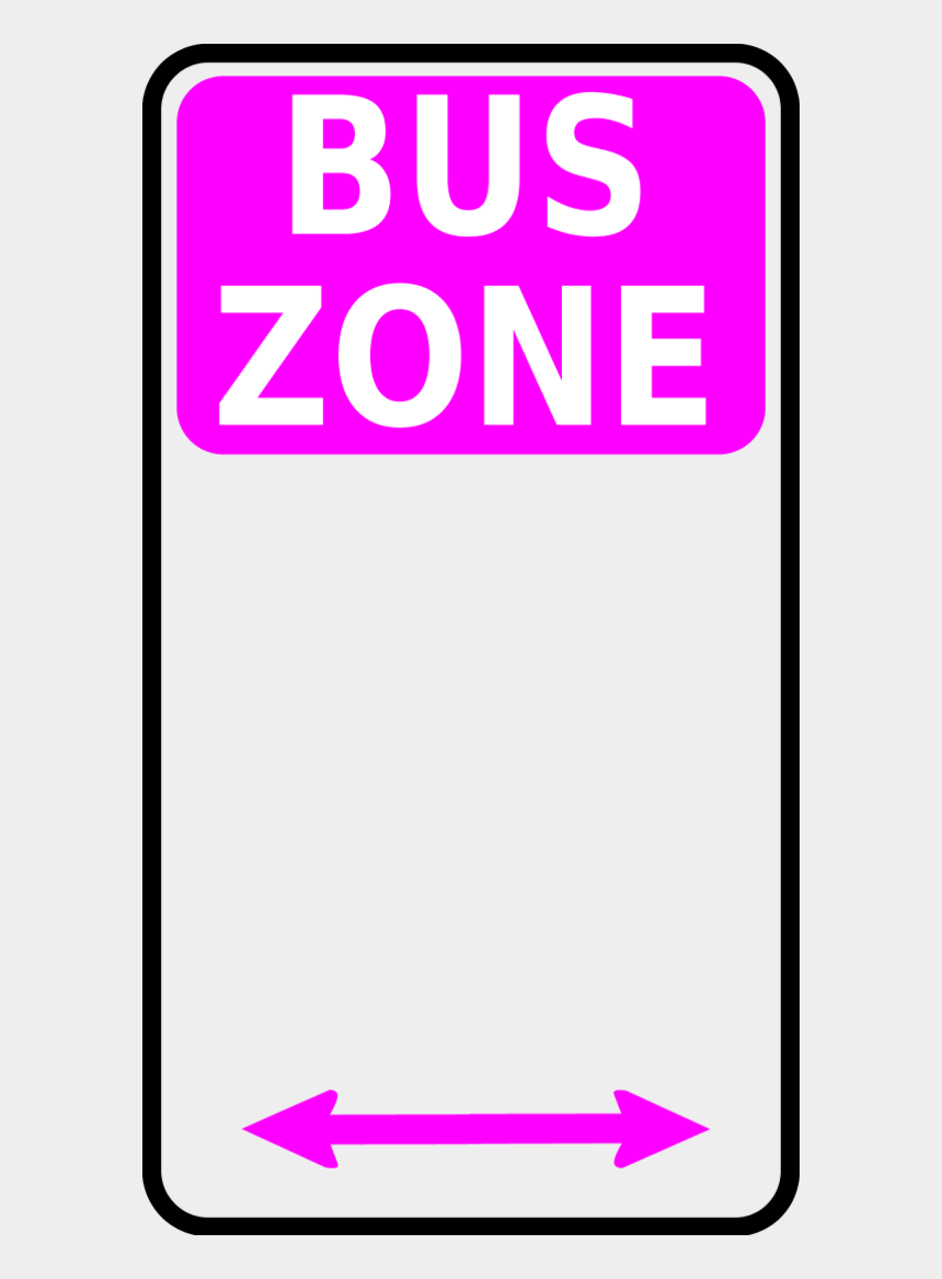 pay attention clipart, Cartoons - Vector Clip Art - Bus Zone Sign