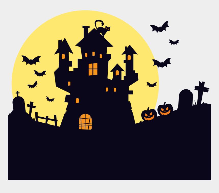 kansas clipart, Cartoons - Kansas Pumpkin Pie Scary Maze Prank Falling Balls Stickman - Haunted House Silhouette Png