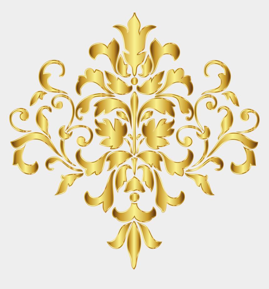 interior design clipart, Cartoons - Interior - Golden Pattern Design Png