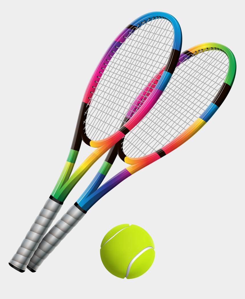 tennis ball clipart, Cartoons - Tennis Rackets And Ball Transparent Png Clip Art - Tennis Racket And Ball Png