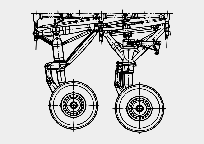 gear clip art, Cartoons - Free Vector Landing Gear Clip Art - Aircraft Landing Gear Blueprint