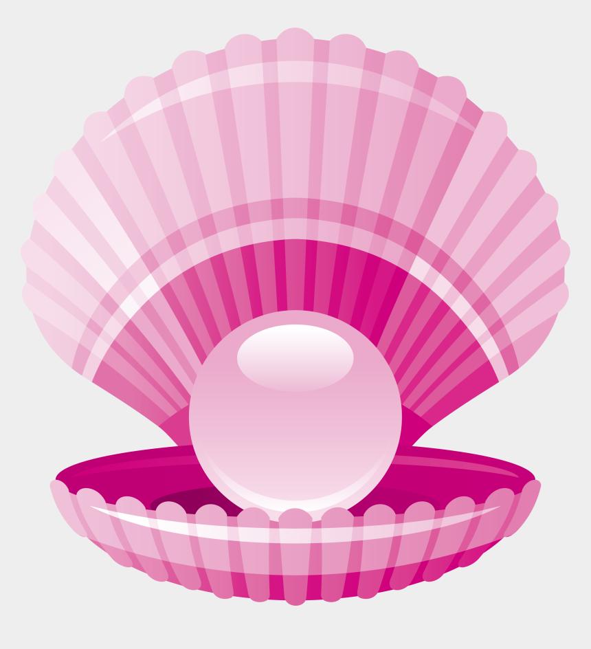 shell clip art, Cartoons - Clam Pearl Seashell - 珍珠 卡通