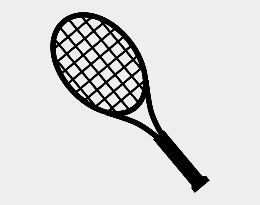 tennis ball clipart, Cartoons - Tennis - Tennis Racket Clipart Black And White