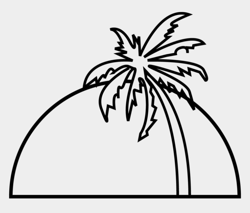 sunset clip art, Cartoons - Palm Tree Sunset - Clipart Palm Tree Sunset Black And White