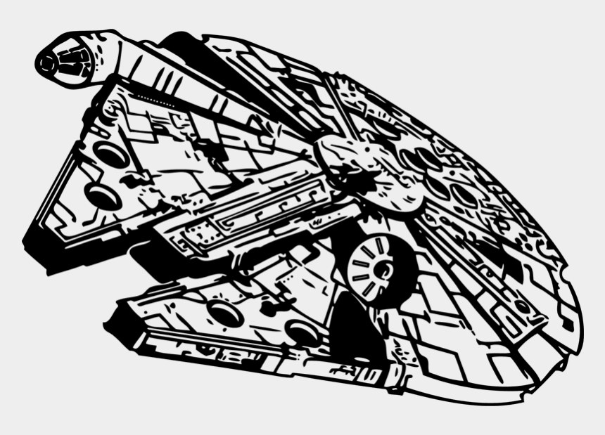 falcon clipart, Cartoons - Millennium Falcon Clipart - Star Wars Ship Clipart