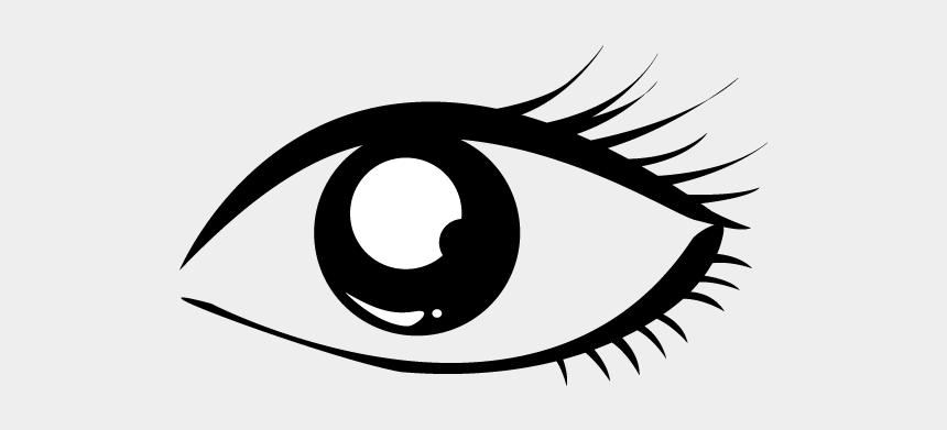 eyelash clipart, Cartoons - School And Study - Eye Clip Black And White
