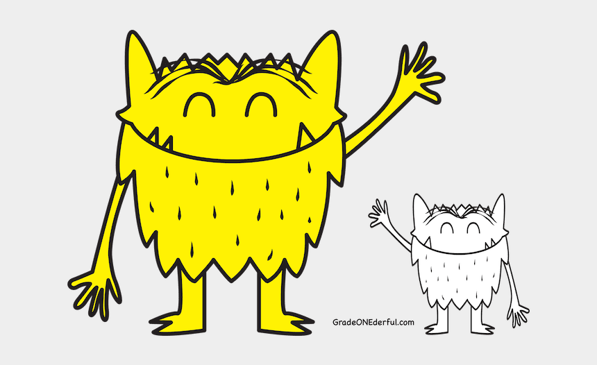 monster clip art, Cartoons - Feelings Are Important - Color Monster Coloring Pages