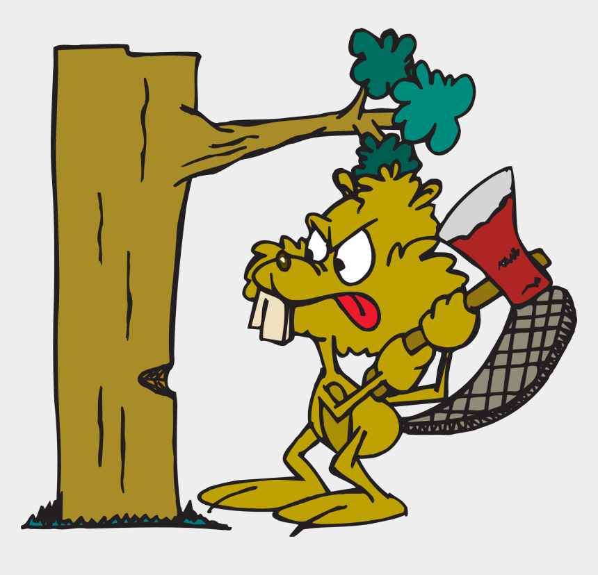 axe clipart, Cartoons - Beaver Angry Tree Free Vector Graphic On - Cutting Down A Tree Cartoon