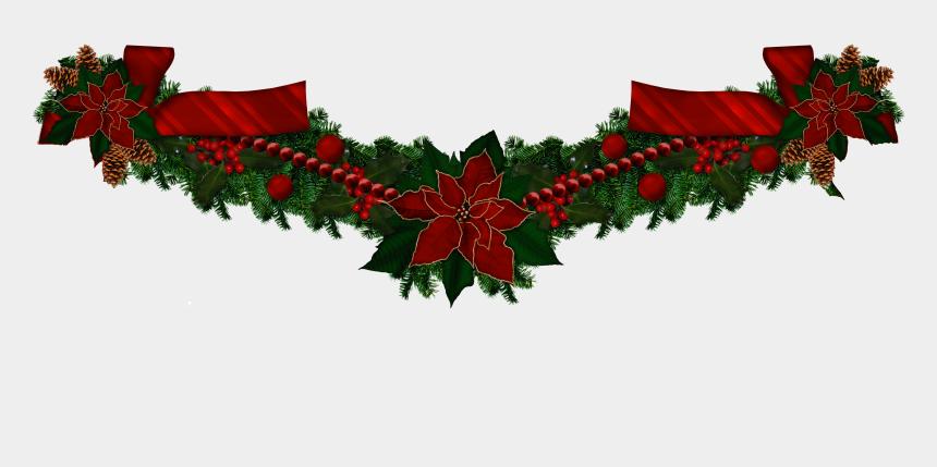 christmas garland clip art, Cartoons - Garland, Christmas Wreaths, Christmas Swags, Holiday - Christmas Garland Transparent Background