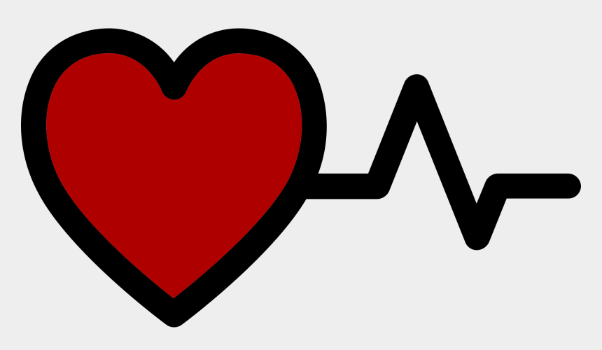 heartbeat clipart, Cartoons - Px Red Heart With Heartbeat Logo - Red Heart Beats Png