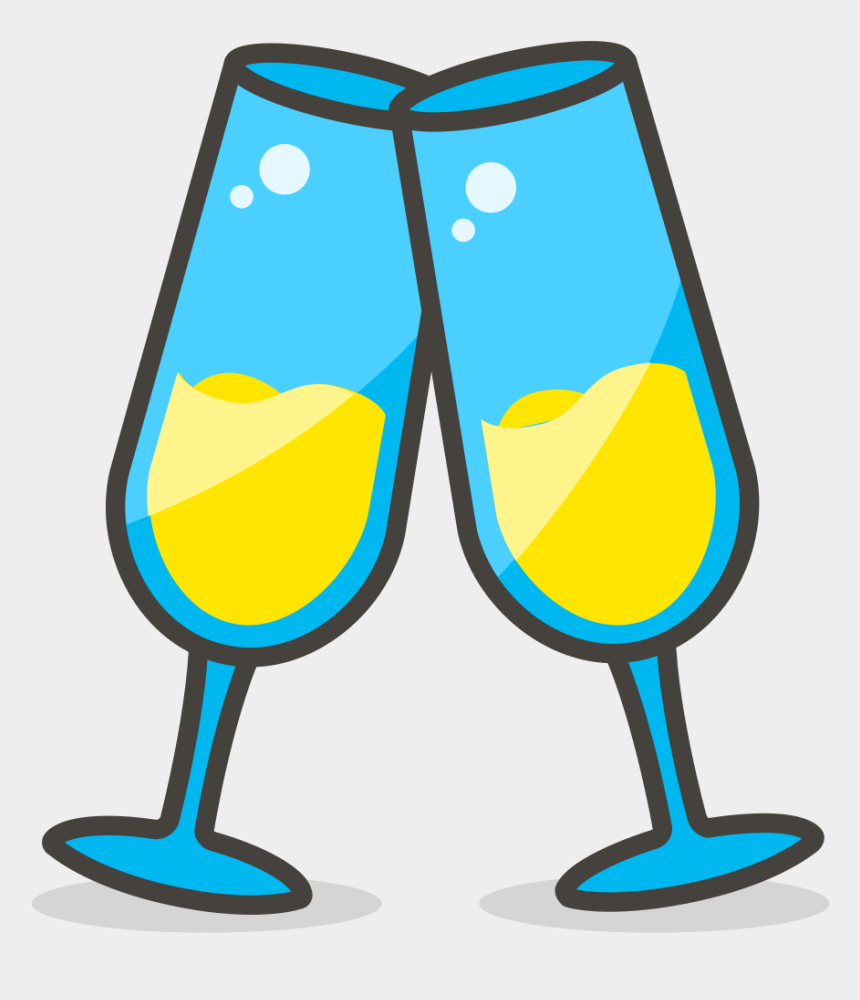 toast clipart, Cartoons - 579 Clinking Glasses - Gambar Gelas Pesta Png