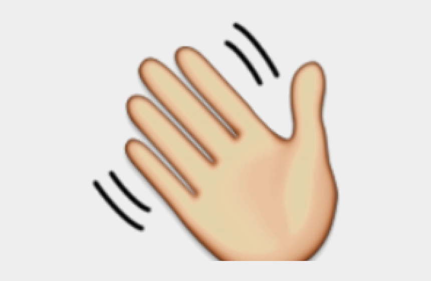 wave clip art, Cartoons - Hand Emoji Clipart Hand Wave - Emoji De Aplausos Gif