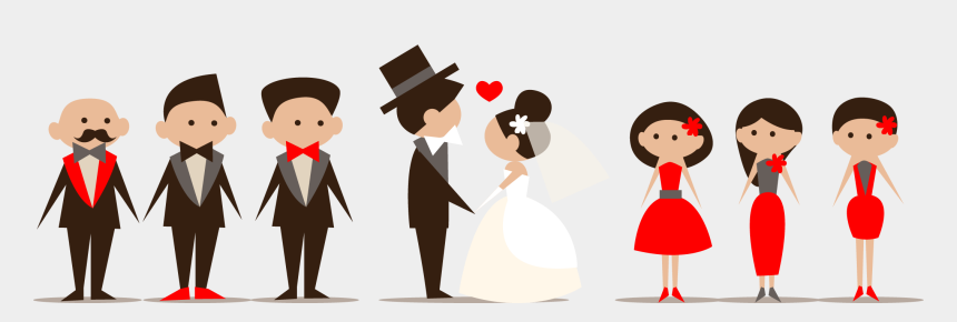 party clip art, Cartoons - Wedding Party Clipart - Wedding Party Cartoon Png