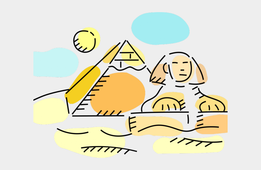 pyramids clipart, Cartoons - Pyramid Clipart Sphinx - Ancient Egypt Art Cartoon