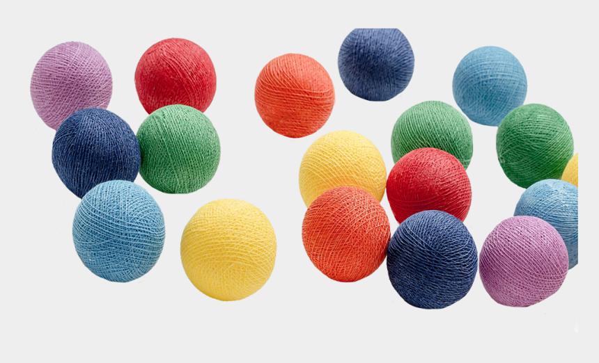 cotton balls clipart, Cartoons - Baumwoll Kugellichterkette Regenbogen, Cotton Ball - Png Color Cotton Balls