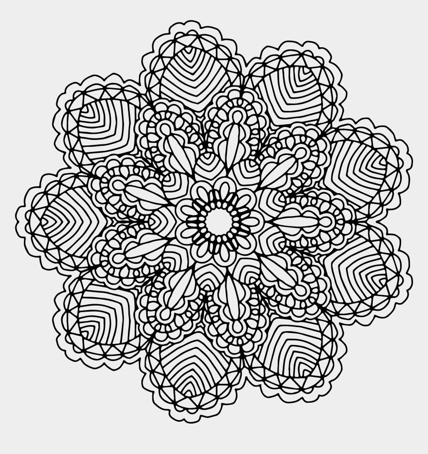 mandala clipart black and white, Cartoons - Mandala Png Full Hd