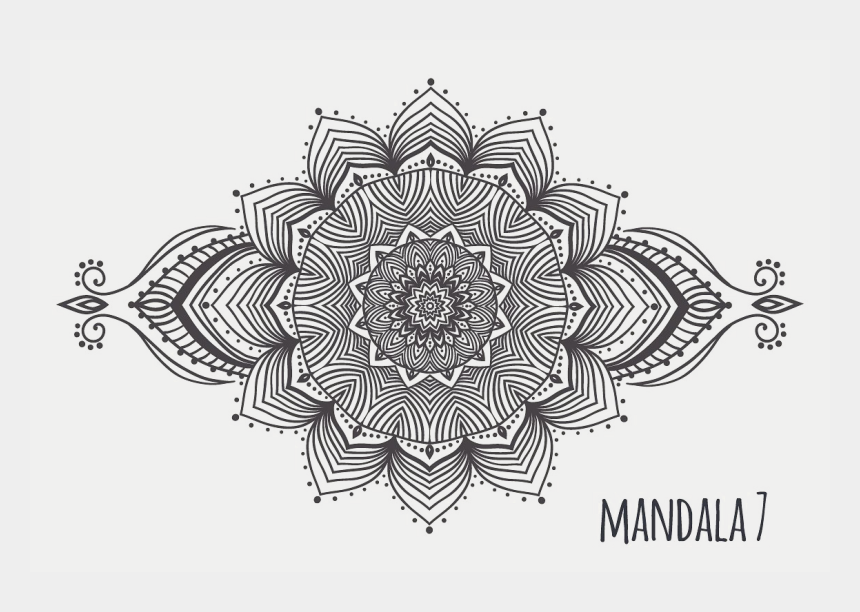 mandala clipart black and white, Cartoons - Mandala Png Transparent - Mandala White Background Png
