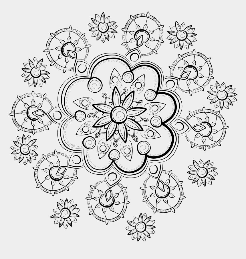 mandala clipart black and white, Cartoons - Kostenlose Mandalavorlagen Zum Herunterladen - Mandalas Para Pintar E Imprimir
